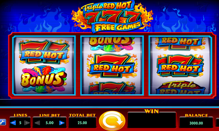 Triple Red Hot 777 Pokies Online Free Welcome Bonus